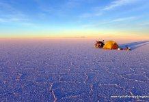 Cycloterapy acampada en Salar de Uyuni Bolivia