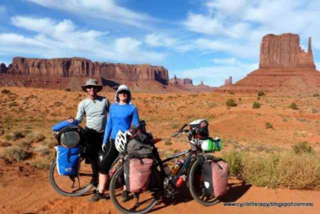 Cyclotheraphy, on their way through Monument Valley, Utah, USA