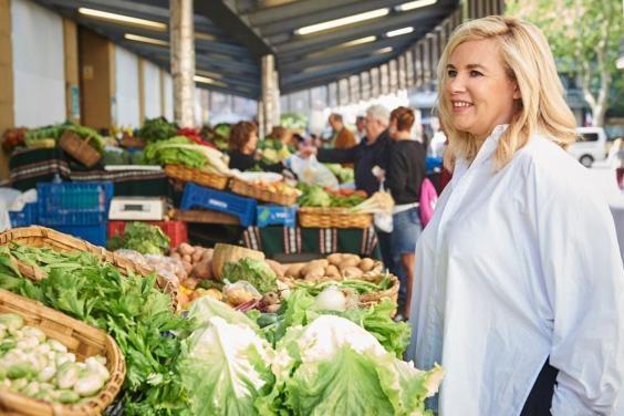 Hélène Darroze at the market (Jose Manuel Bielsa)