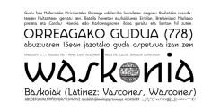 Waskonia font