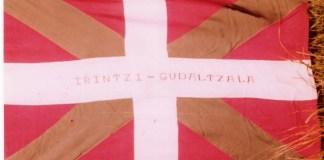 Bandera del batallón Irrintzi donde lucho por Euzkadi el irlandés Jack Prendergast