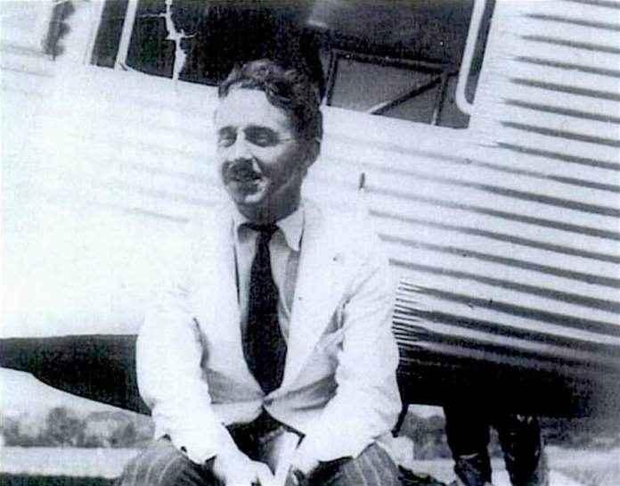George Steer at the East London Aerodrome on November 2, 1938