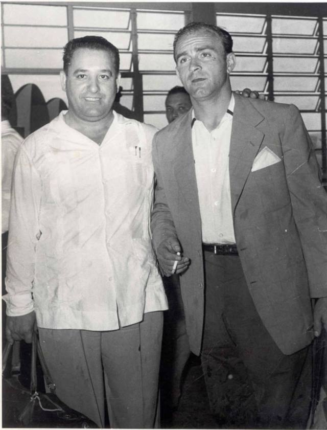 Basque Damián Gaubeka with Alfredo di Stéfano in Caracas