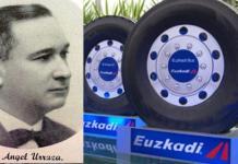 Angel Urraza y modelos actuales de los neumáticos de la marca que fundó