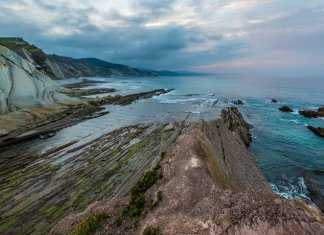 Zumaia flysch coast at sunset, Euskadi (DAVID GONZÁLEZ REBOLLO VÍA GETTY IMAGES)