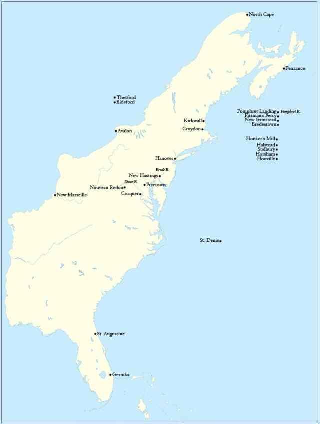 Gernika en el mapa de Atlantis de Harry Tturtledove