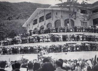 Inauguracion en marzo de 1950 del Centro Vasco de Caracas con la presencia del Lehendakari Aguirre (foto del blog de Iñaki Anasagasti)