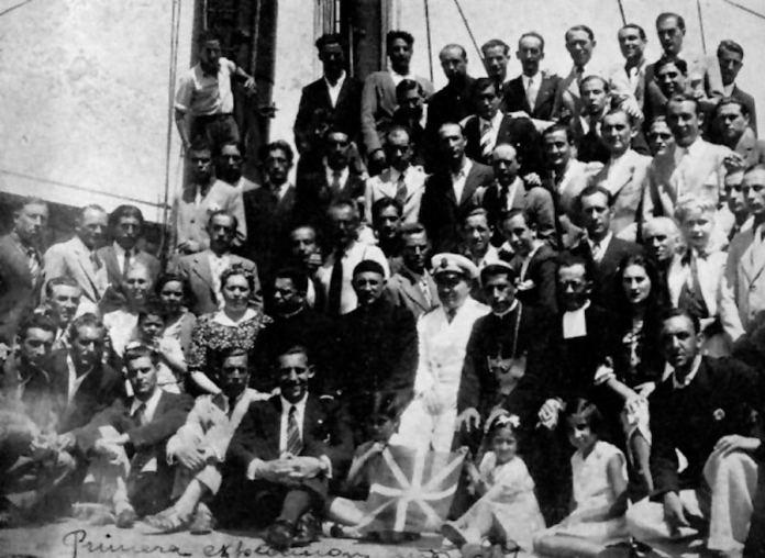 Ls 82 vascos que llegaron a Venezuela en 1939 a bordo del Cuba
