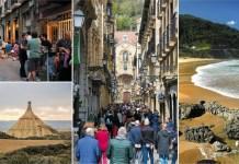 Imágenes de la guía de Atlantica Editions sobre el País Vasco peninsular