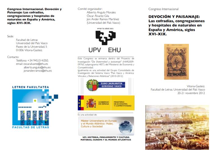 """Congreso Internacional """"Devoción y Paisanaje"""""""