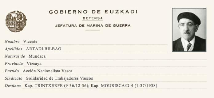 Information about Vicente Artadi Bilbao