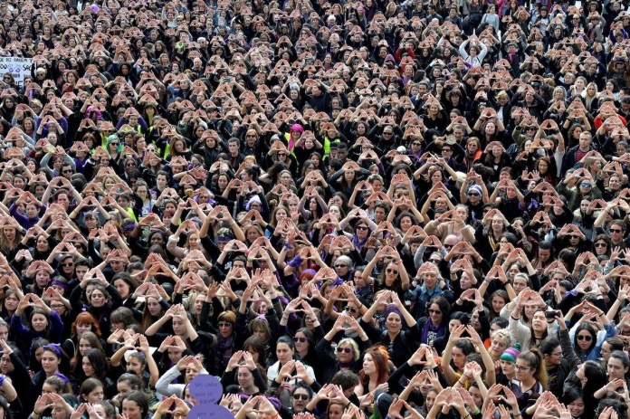 A demonstration for women's rights in Bilbao, Spain. Credit Vincent West/Reuters