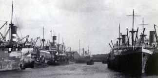 El puerto de Liverpool a principios del siglo XX