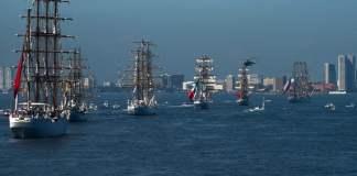 """Los buques escuela participantes en """"Velas Latinoamérica 2018"""" llegan a Veracruz"""