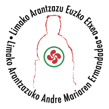 Logo de la Hermandad y la Euzko Etxea de Aranzazu en Lima