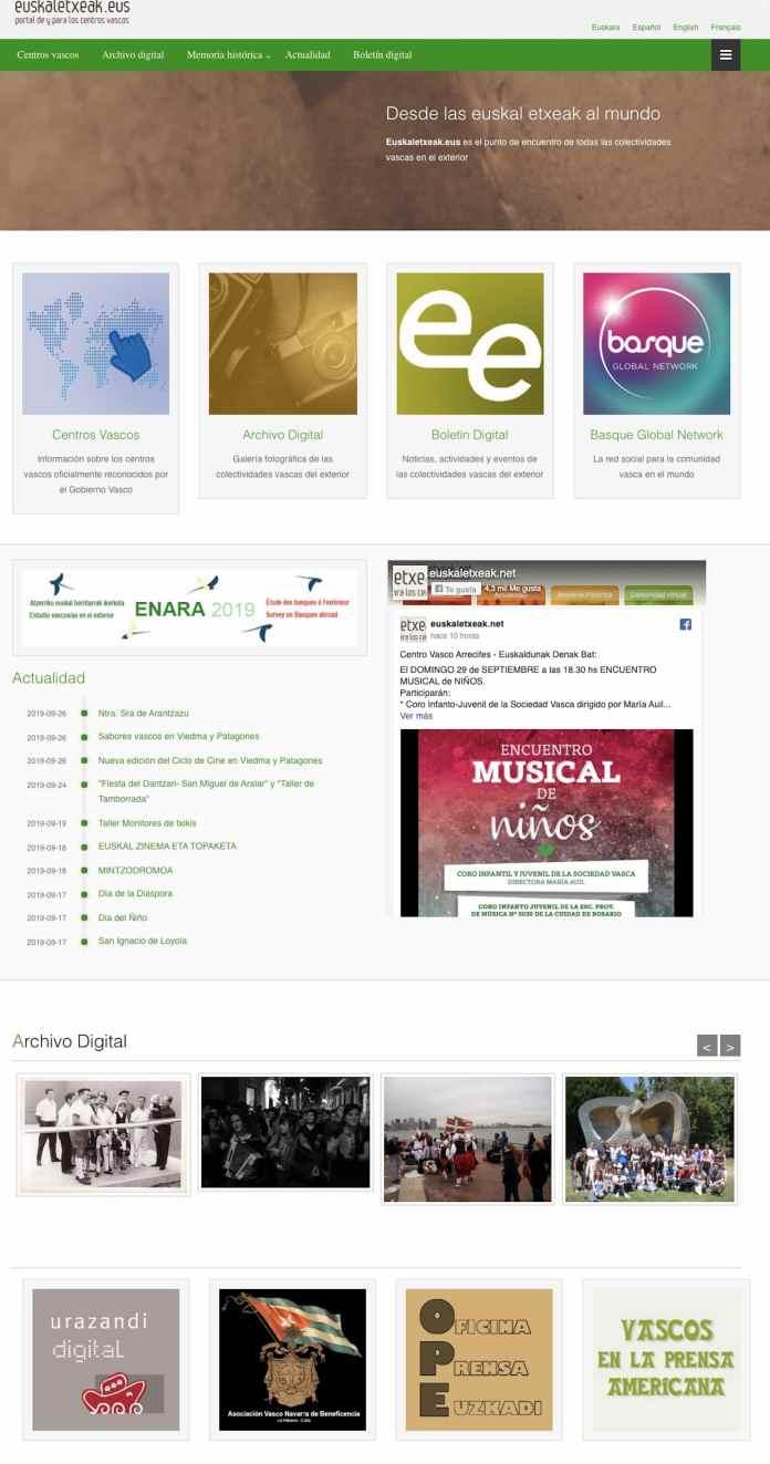 Nueva web de Euskaletxeak