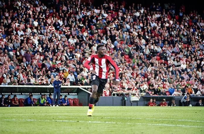 Athletic's Iñaki Williams in action against Espanyol last month. 'We are doing everything right and that is something that other clubs can't buy,' says the star striker © Daniel Castro Garcia