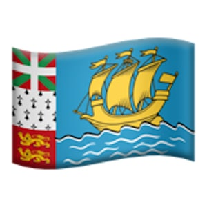 Saint Pierre et Miquelon en emoji