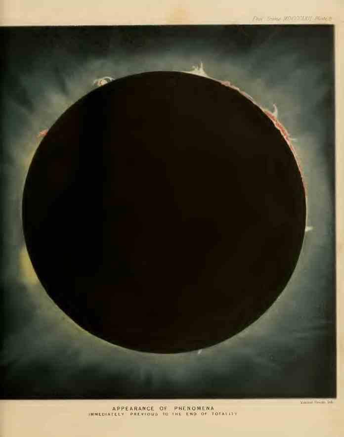 Fotografía del Eclipse Total de sol de 1860 realizada por Warren de la Rue desde Rivabellosa
