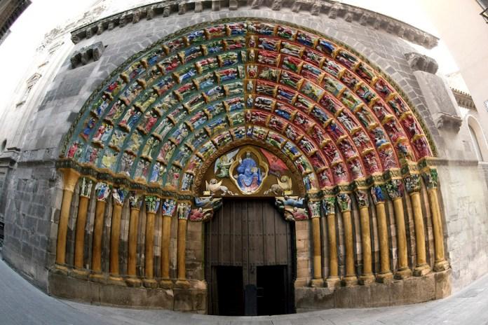 Puerta del Juicio Catedral de Tudela representando su aspecto original