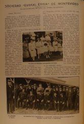 Diario La Baskonia de Buenos Aires de 28 de febrero de 1919 primera página de la crónica sobre la plantación del retoño del Arbol de Gernika en Montevideo
