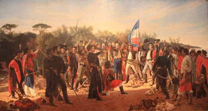 El Juramento de los Treinta y Tres Orientales, Juan Manuel Blanes. Museo Juan Manuel Blanes.