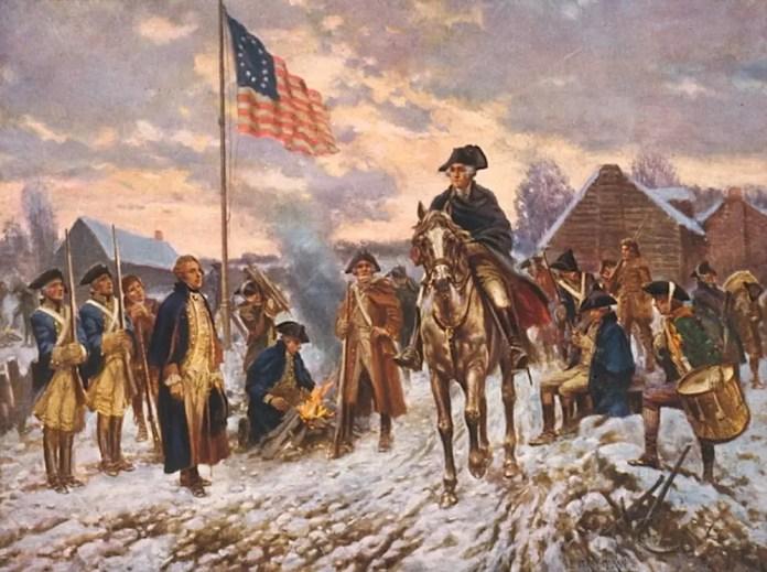Washington at Valley Forge Washington at Valley Forge, print of the painting (c. 1911) by Edward Percy Moran. Library of Congress, Washington, D.C. (digital file no. cph 3f03793)