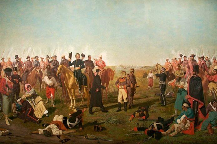 Óleo de Juan Manuel Blanes sobre la Batalla de las Piedras