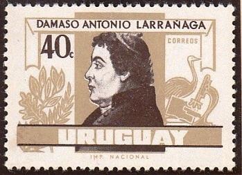 Sello con la imagen de Damaso Antonio Larrañaga