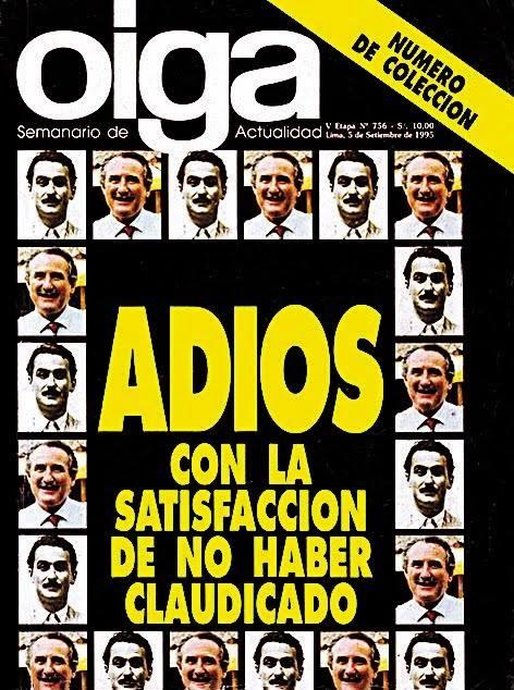 Última portada de la Revista Oiga