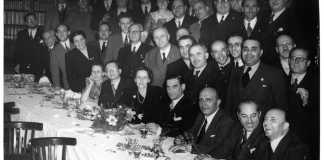 Foto del congreso de fundación de la Democracia Cristiana italiana 1946 (con representantes vascos)