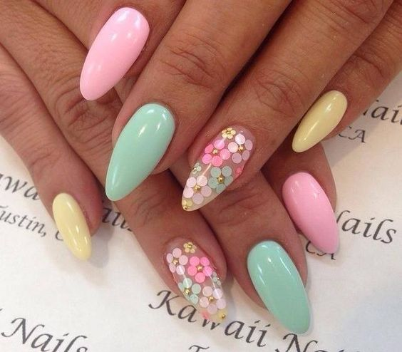 Flower Power nails