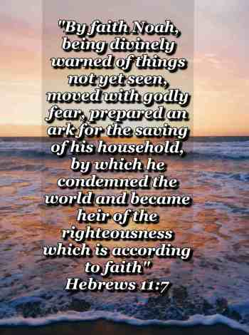 bible varses wallpaper faith (Hebrews 11:7)