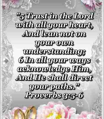 Bible verses about God's plans (Proverbs 3:5-6)
