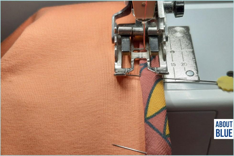 Bieslint naaien met topstitch