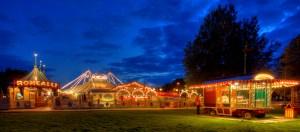 In der Abenddämmerung strahlt der Circus Roncalli am schönsten © Pressebüro Salto Vitale
