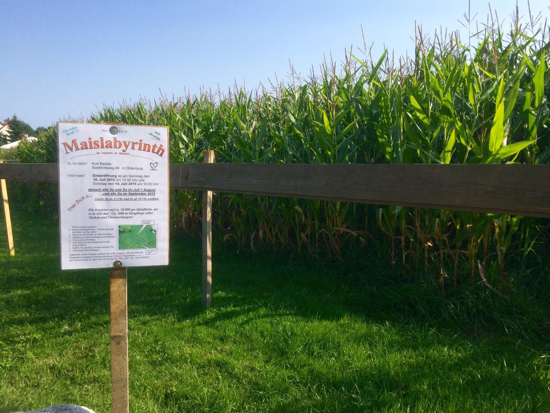 Maislabyrinth in Oldenburg (Stadtteil Nadorst)