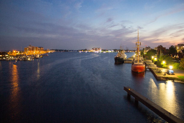 Blick von der Kaiser-Wilhelm-Brücke in den Großen Hafen | Foto: Aline Wohler