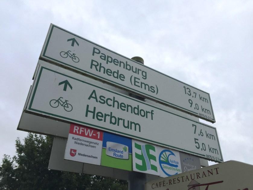 Mehrere überregionale Radwanderwege führen an der Leher Pünte entlang. (c) Patrick Anneken