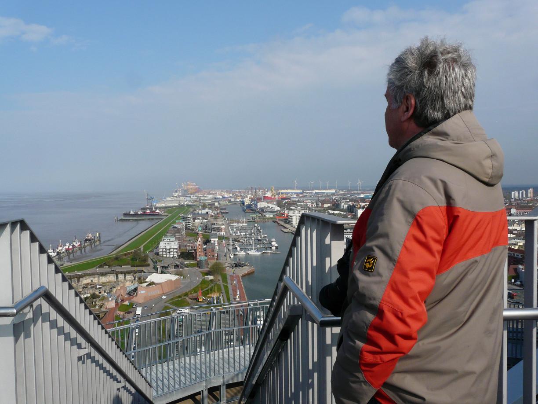 Der schöne Blick bleibt: Neuer Hafen, Wesermündung, Überseehäfen Bremerhaven