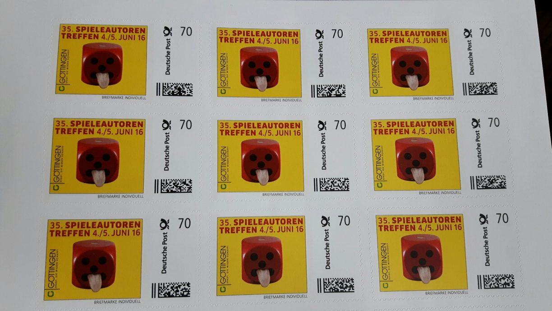 Briefmarke zum Spielautorentreffen in Göttingen