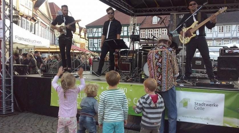 Bühne auf dem Celler Weinmarkt