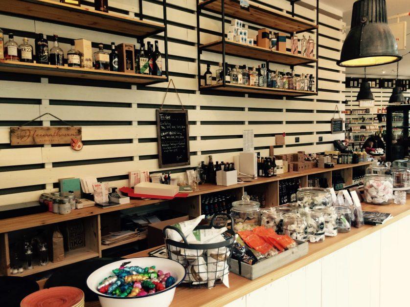 Blick in das Café Heimathaven