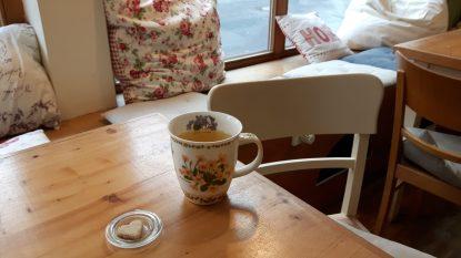 Teetasse in Dabis Kaffeestube