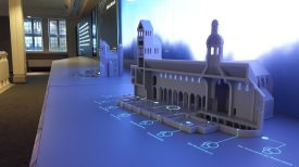 Ein Querschnitt durch das UNESCO-Welterbe Dom - Ausstellungsstück im Besucherzentrum Welterbe