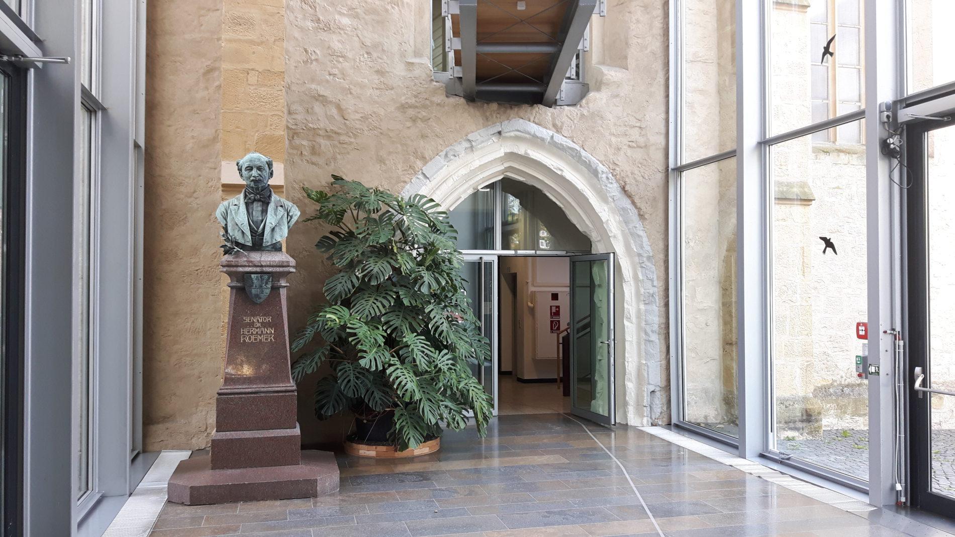 Die Büste des Museumsbegründers Hermann Roemer (c) Keno Hennecke