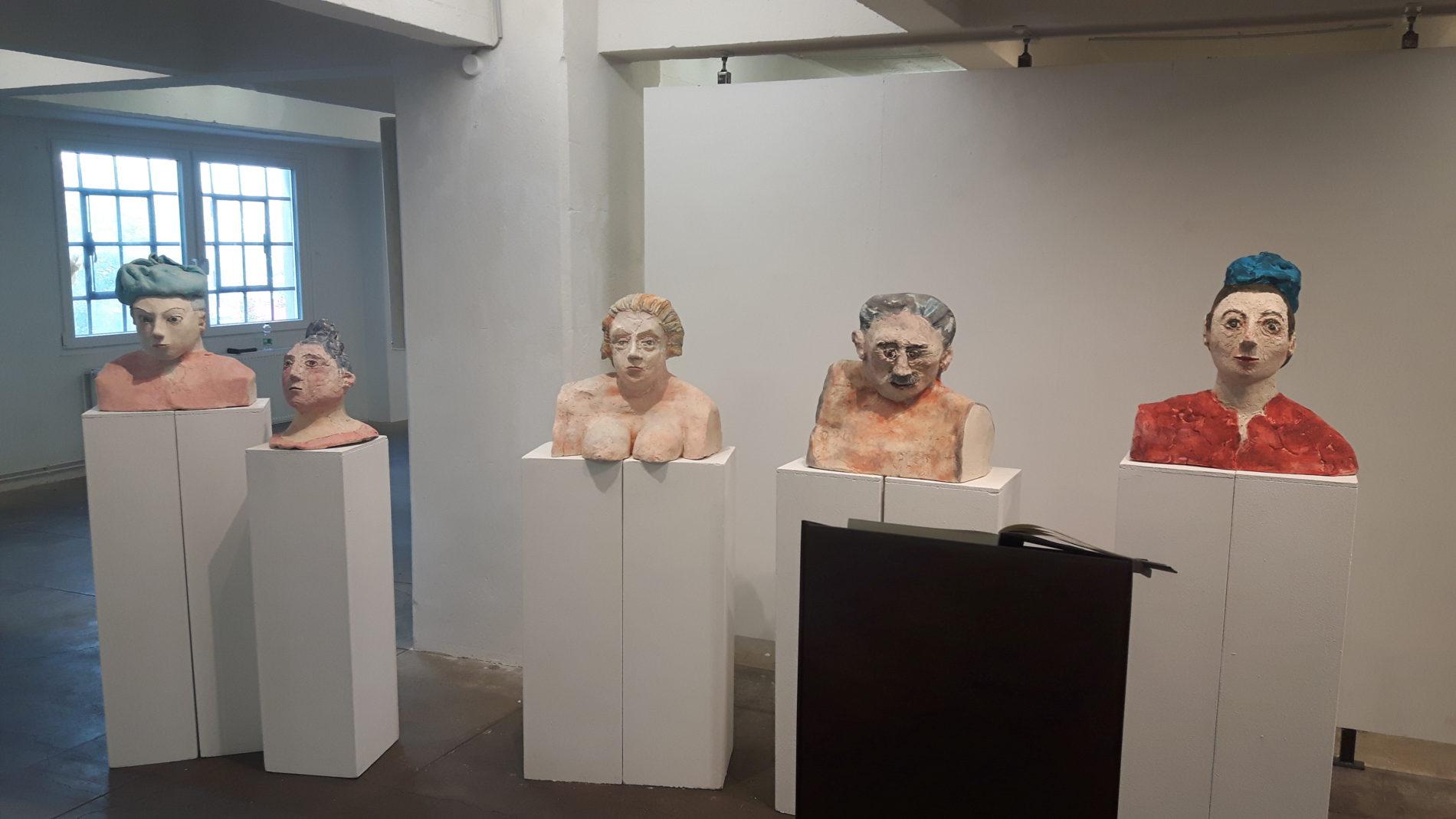 Terracotta-Köpfe vom Künstler Robert Günzel (c) Keno Hennecke