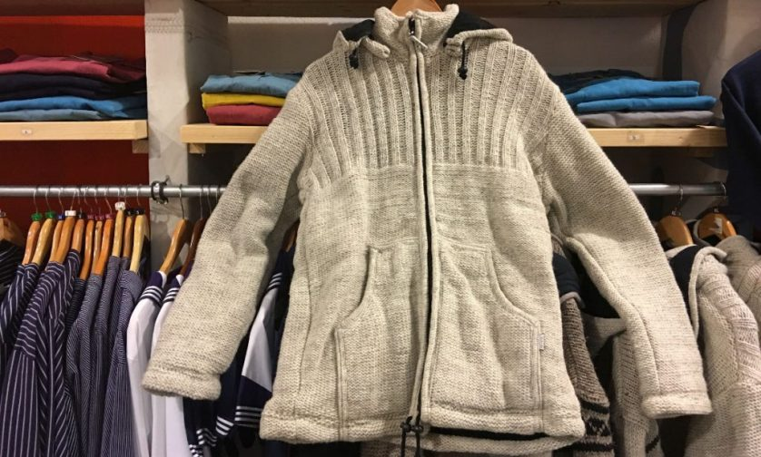 Helle Strickjacke