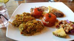 Fischfilet mit Safranhirse als Hauptmenü