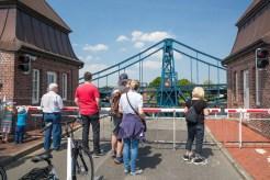 Geöffnete Kaiser-Wilhelm-Brücke
